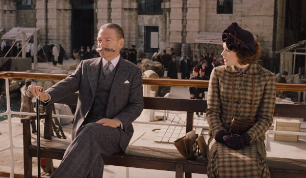 kenneth branagh and daisy ridley in murder on the orient express boat scene