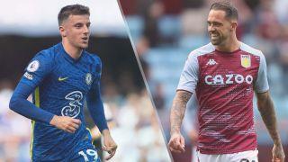 Chelsea vs Aston Villa live stream — Mason Mount of Chelsea and Danny Ings of Aston Villa