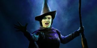 Idina Menzel as Elphaba on stage broadway in Wicked