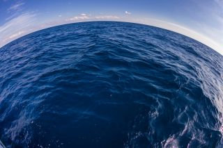 The ocean from a fisheye point of view.