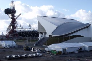 The London Aquatics Centre was built for the 2012 Olympic Games.