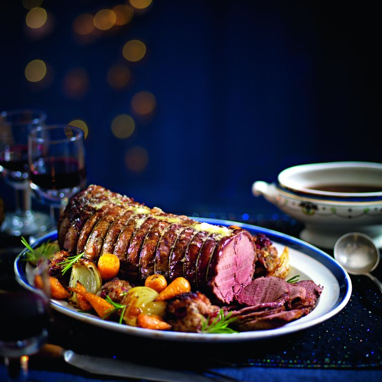 Roast Venison with Cranberry and Sour Cherry