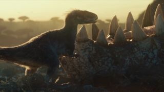A still from Jurassic World 3: Dominion – and yes, they now have feathers
