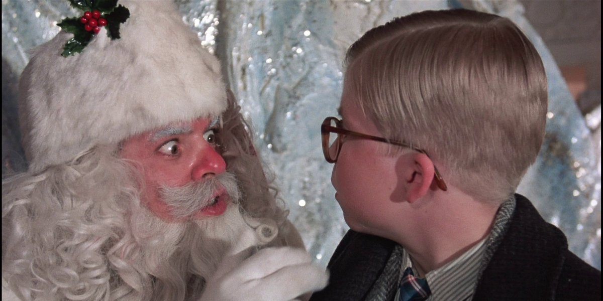 Jeff Gillen and Peter Billingsley in A Christmas Story