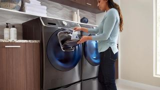 Save $450 on a Samsung washer that lets you add clothes mid-wash