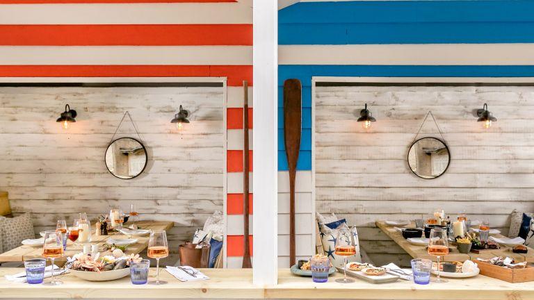 The Berkeley Beach Huts in Knightsbridge with nautical interiors and sea-food