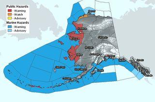 alaska weather warning map