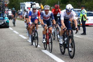 Andre Greipel leads the breakaway on stage 12 of the Tour de France
