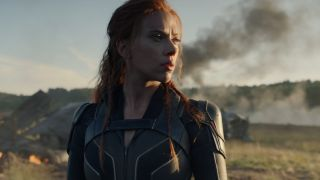 Natasha Romanoff (Scarlett Johansson) looks ahead in Black Widow (2021)