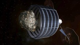Asteroid Capturing Spacecraft Concept