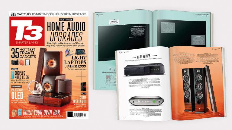 Cover of T3 issue 324 featuring the cover line 'Must-have home audio upgrades'.