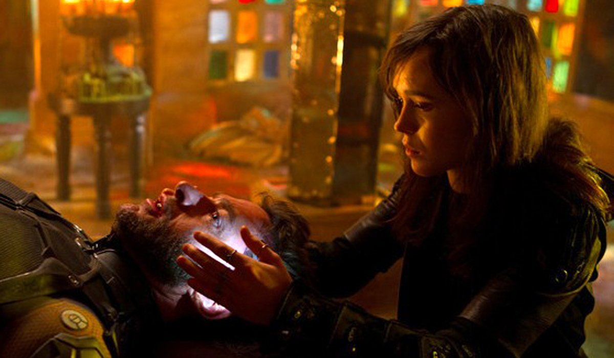 X-Men: Days of Future Past Kitty Pryde uses her powers on Wolverine