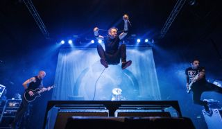Rise Against perform on stage at O2 Academy on November 4, 2014 in Leeds, United Kingdom.