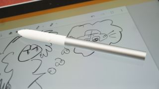 The previous stylus was not stow-able, sadly.