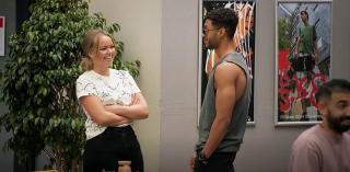 Neighbours spoilers, Harlow Robinson and Levi Canning chat.