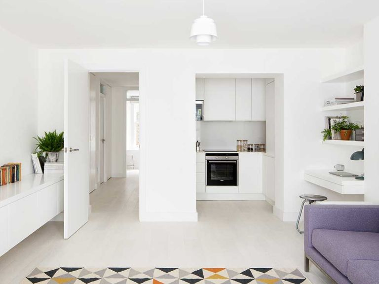Remodelling The Interior Layout Of A Small Apartment In London S Primrose Hill Has Created An Open Plan Kitchen Dining Living E As Well Flooding