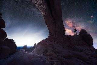 Milky Way and Self-Portrait from Moab