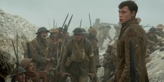 1917 Scofield stands in the trench