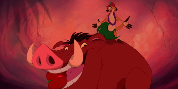 The Lion King's Timon and Pumbaa