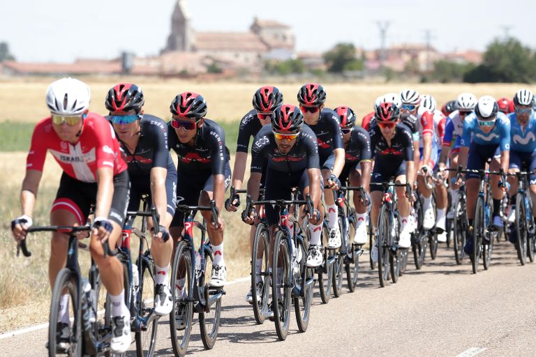 Ineos Grenadiers riding stage one of the Vuelta a Burgos 2021