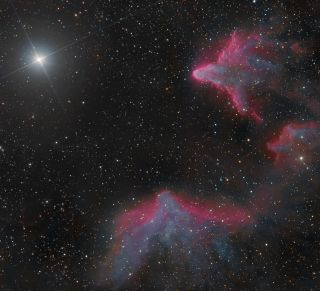Nebulae IC 59 and IC 63