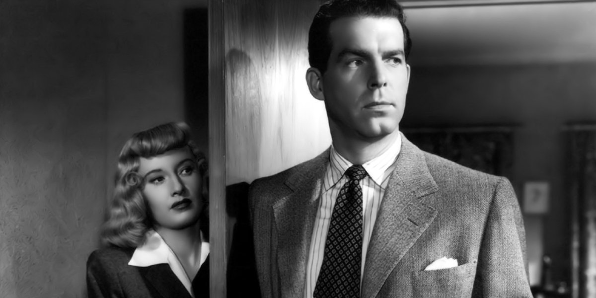 Barbra Stanwyck and Fred MacMurray in Double Indemnity