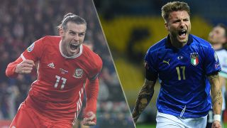 Italy vs Wales live stream at Euro 2020 — Gareth Bale of Wales and Ciro Immobile of Italy