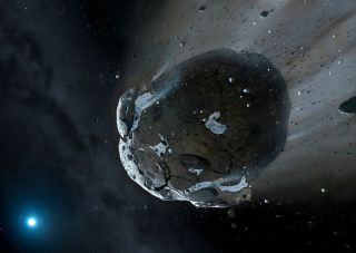 Asteroid Torn Apart by Star GD 61