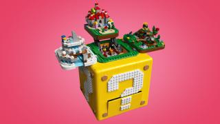 Il set lego con tanto di blocco ? di Super Mario 64 e i diorami nascosti