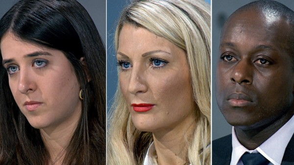 Three contestants from The Apprentice