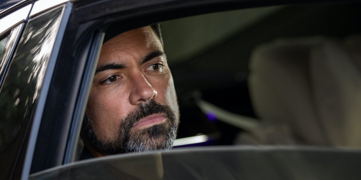 danny pino's miguel galindo in limousine on mayans m.c.