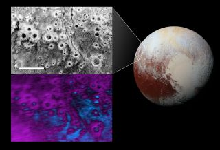 Haloed Craters on Pluto