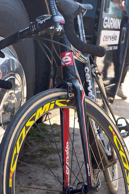 Cervelo wheel, Paris-Roubaix 2011 tech