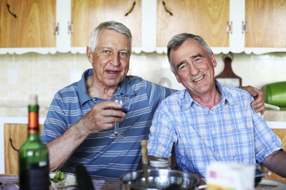Old gay men with old men