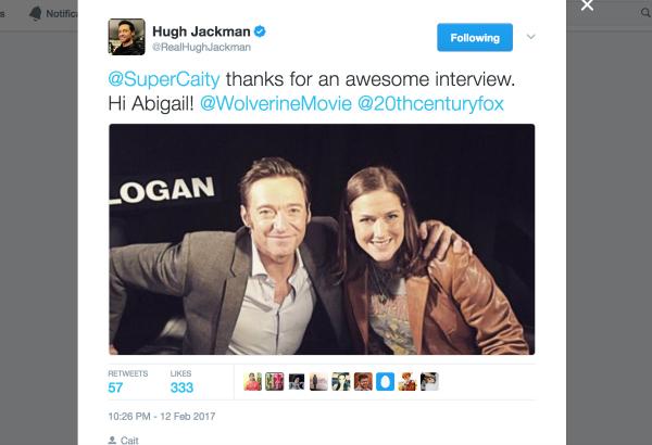 Hugh Jackman's Logan Tweet