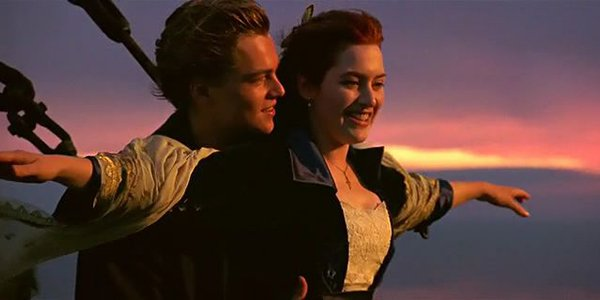 Titanic Jack and Rose I'm flying scene