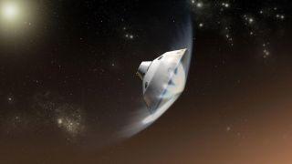 Curiosity Mars Entry: Artist's Illustration
