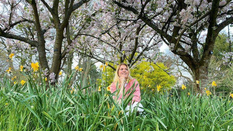 Iona McLaren in Bodnant Garden, Wales