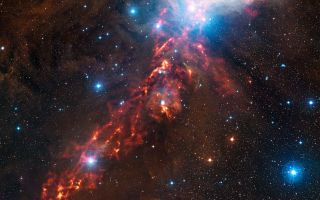 Star Formation in Orion Nebula space wallpaper