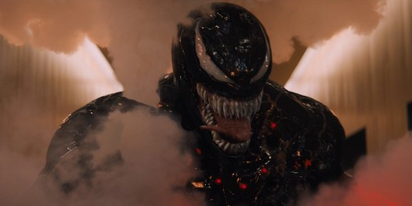 Venom surrounded by smoke