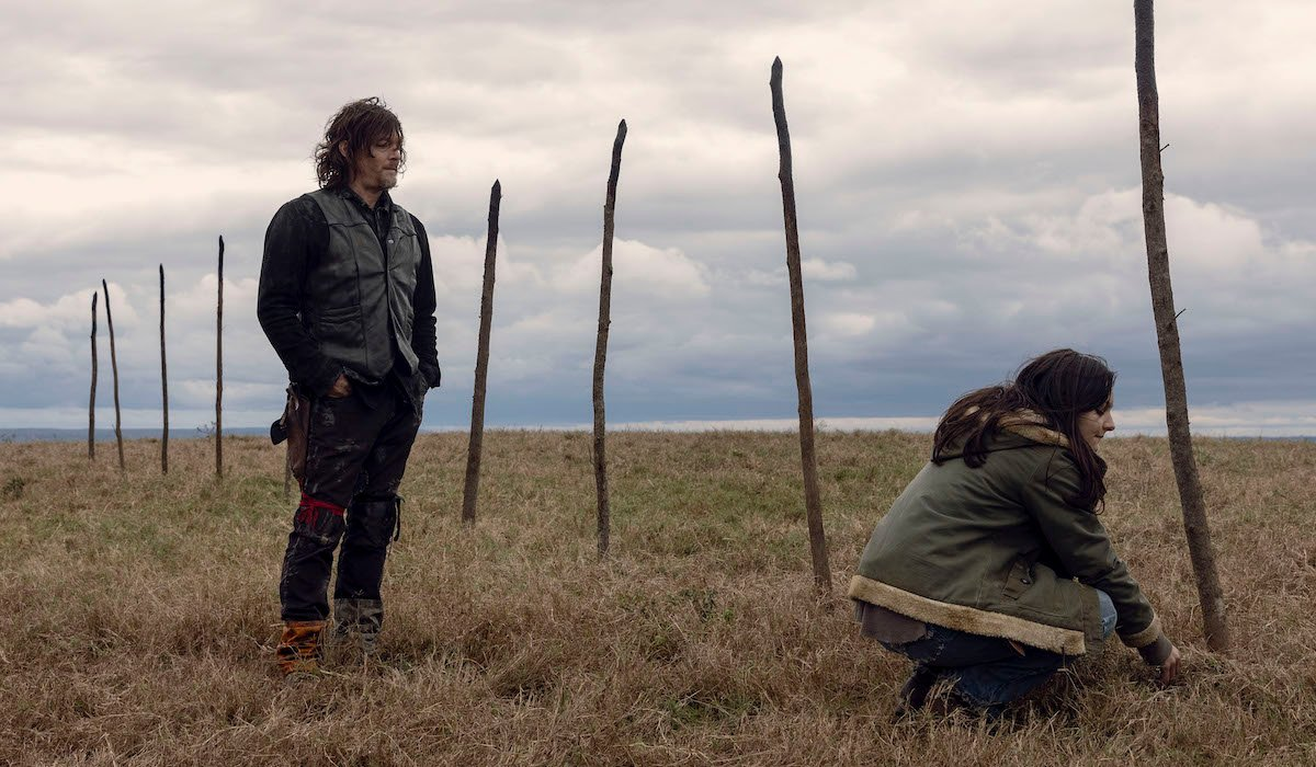 daryl and lydia the walking dead pikes whisperers