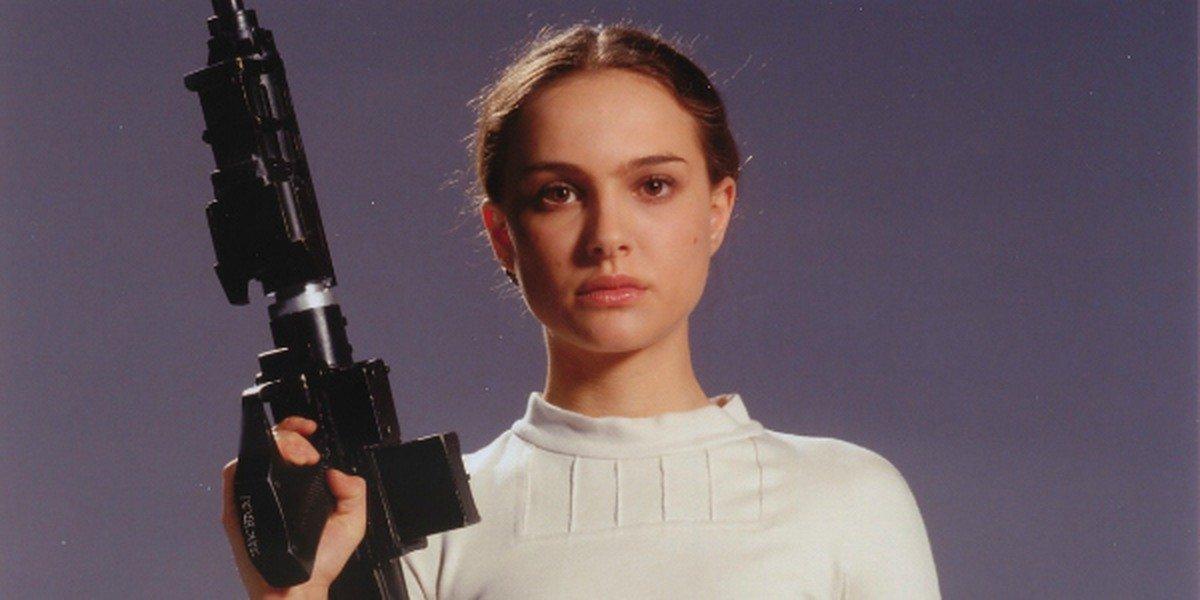 Natalie Portman in the Star Wars films.