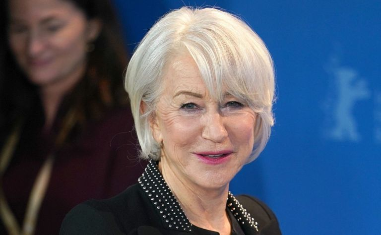 Helen Mirren models short hairstyles for women who are over 60