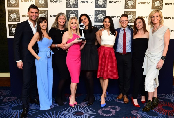 Strictly Come Dancing wins the Reality Programme Award, presented by Linda Barker (right), at the TRIC Awards, held at the Grosvenor House Hotel, London.