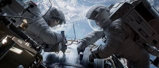 Bullock and Clooney in 'Gravity'
