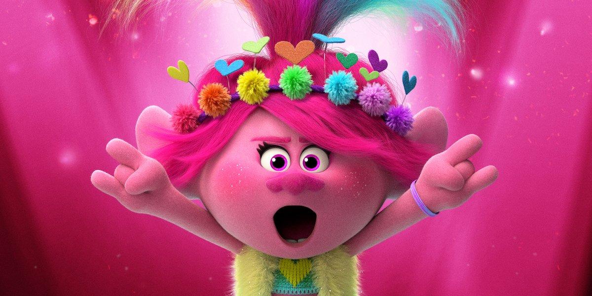 Anna Kendrick's Trolls: World Tour character, Poppy posing