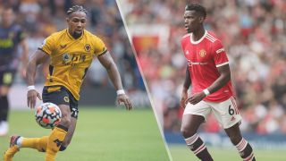 Wolverhampton Wanderers vs Manchester United live stream — Adama Traore of Wolverhampton Wanderers and Paul Pogba of Manchester United