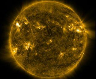 sun storm solar flares