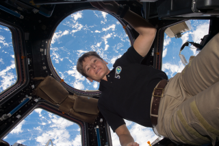 Astronaut Peggy Whitson at the International Space Station in 2016.