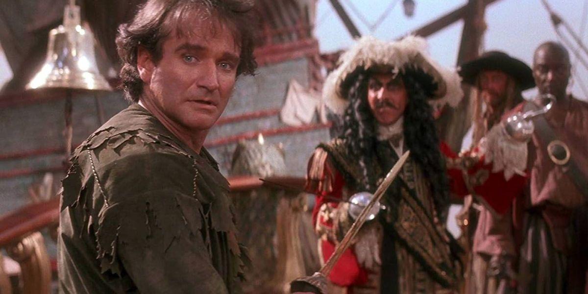 Robin Williams as adult Peter Pan in Hook.